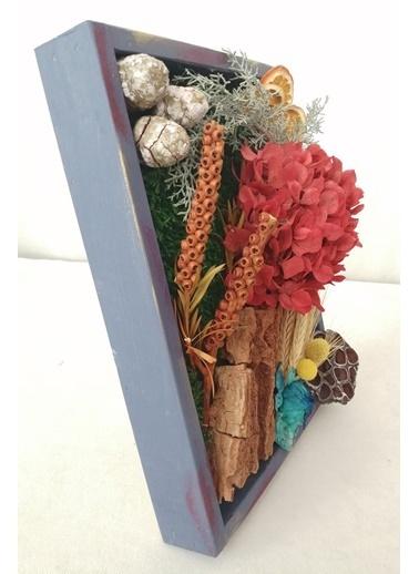 Kuru Çiçek Deposu Küçük Canlı Yosun Tablo Ortancalı (23 cm*30 cm) Renkli